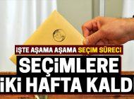 SEÇİMLERE İKİ HAFTA KALDI