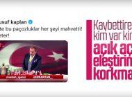 YUSUF KAPLAN'DAN ERKAN TAN'A TEPKİ….