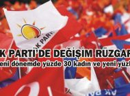AK PARTİ'DE DEĞİŞİM RÜZGARI!