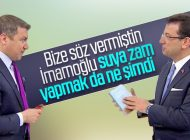 İSMAİL KÜÇÜKKAYA İSTANBUL'DAKİ SU ZAMMINA KIZDI