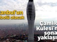 İSTANBUL'UN SEMBOLÜ OLACAK ÇAMLICA KULESİ'NDE SONA YAKLAŞILDI