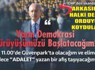 CHP'den 'DEMOKRASİ' YÜRÜYÜŞÜNE SKANDAL AFİŞ!