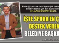 """ÜSKÜDAR BELEDİYE BAŞKANI HİLMİ TÜRKMEN'E """"SPORA EN ÇOK DESTEK VEREN BELEDİYE BAŞKANI"""" ÖDÜLÜ"""