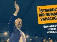 """BİNALİ YILDIRIM ÜMRANİYE'DE KONUŞTU: """"İSTANBUL'U BİR NUMARA YAPACAĞIZ"""""""