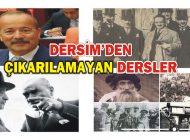 DERSİM'DEN ÇIKARILAMAYAN DERSLER