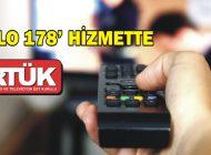 'ALO 178' HİZMETTE