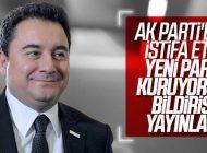 ALİ BABACAN, AK PARTİ'DEN İSTİFA ETTİ