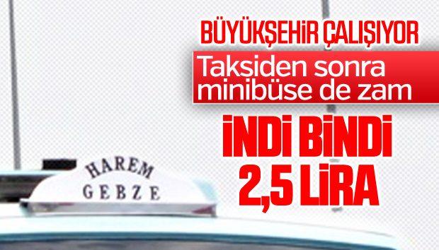 İSTANBUL'DA TAKSİ, MİNİBÜS VE SERVİS ÜCRETLERİNE ZAM!