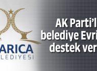 AK PARTİ'Lİ DARICA BELEDİYESİ'NDEN EVRİM'E DESTEK!