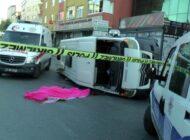 Ümraniye'deki minibüs kazası kamerada: 1 ölü, 6 yaralı