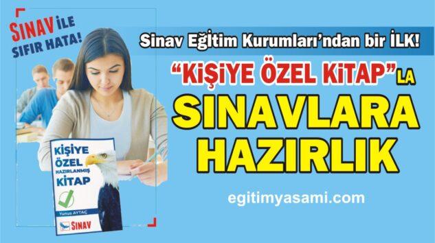 """Sınav Eğitim Kurumları'ndan bir İLK. """"Kişiye Özel Kitap""""la Sınavlara Hazırlık"""