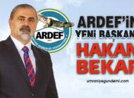 ARDEF Başkanlığına Hakan Bekar seçildi